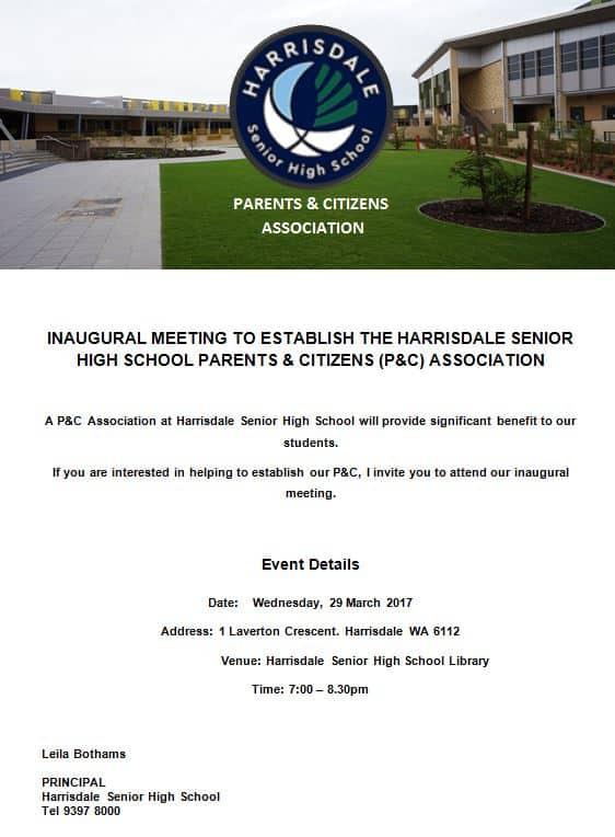 P&C Establishment Meeting Invitation