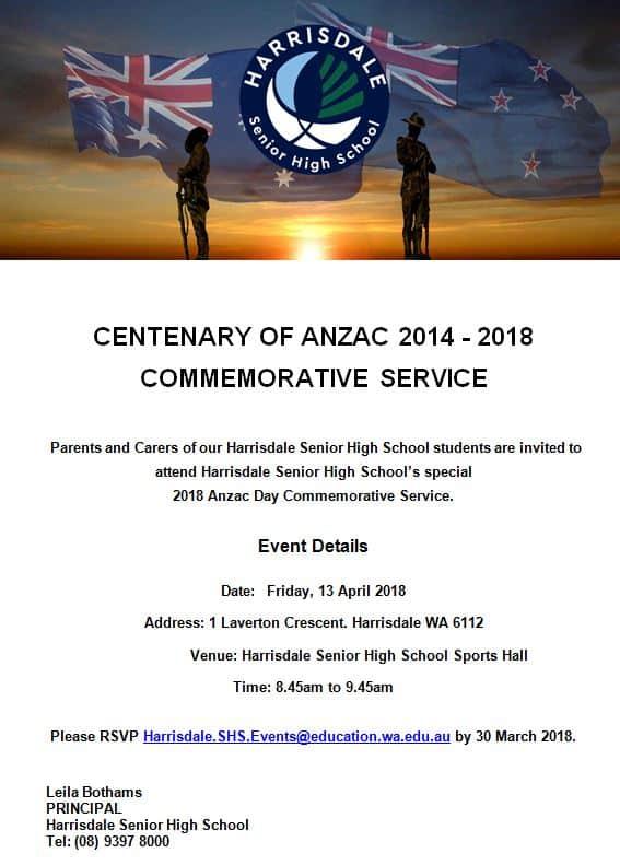 Anzac Day Invitation (Parents)
