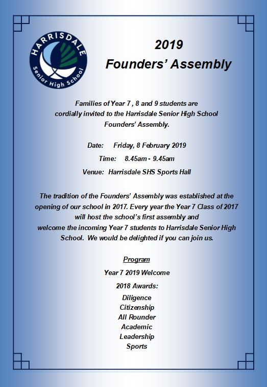 2019 Founders Assembly Invite