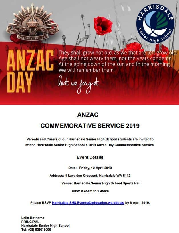 ANZAC Day Service Invitation (FB)